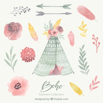 Boho Vectors, Photos and PSD files.