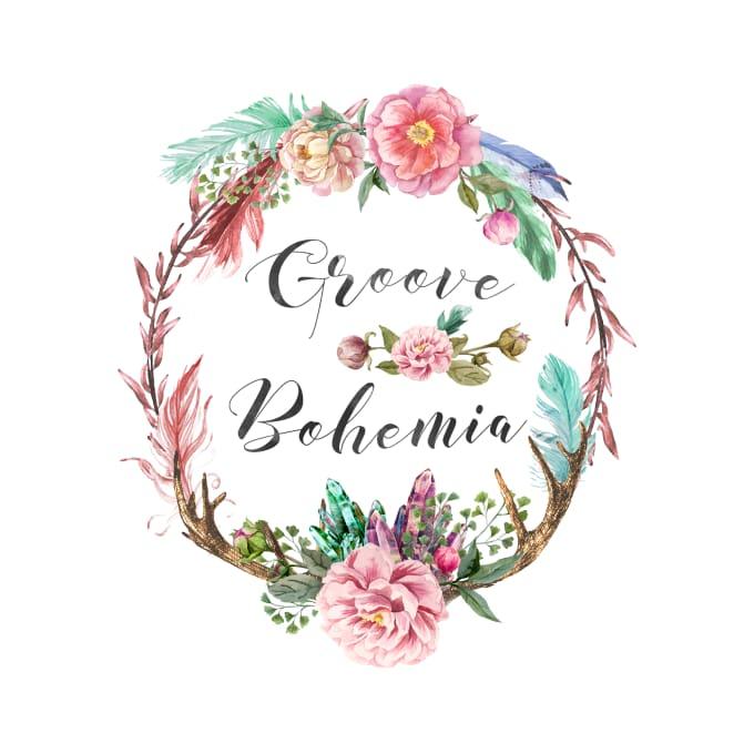 design a beautiful bohemian logo in boho style.