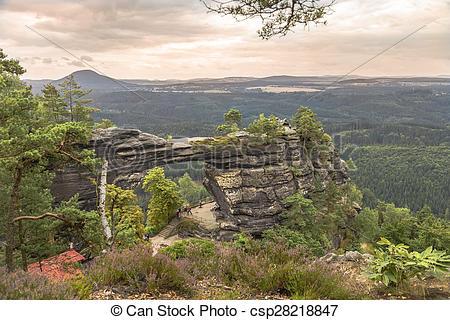 Stock Photo of national park Bohemian Switzerland.