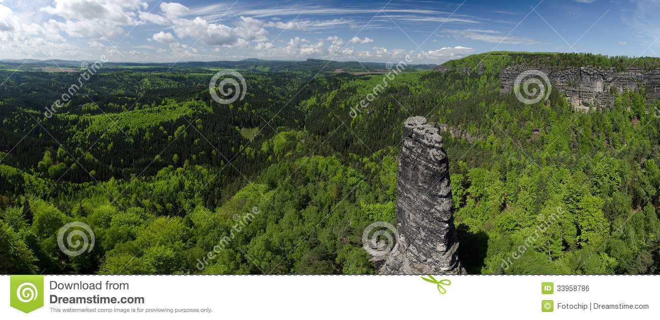 Bohemian Switzerland National Park, Czech Republic Royalty Free.