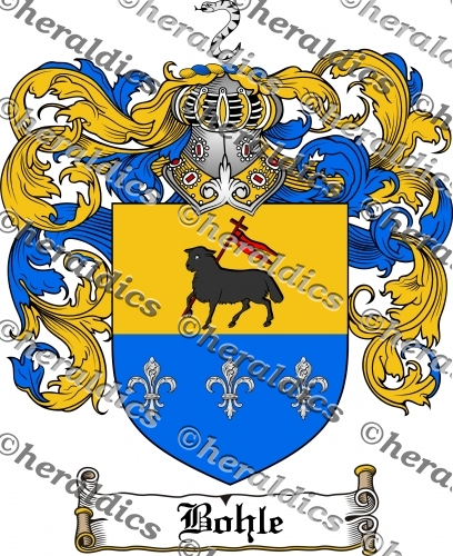 Bohle Coat of Arms Bohle Family Crest Instant Download.