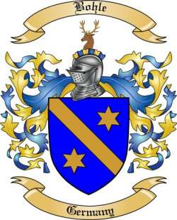 Bohle Family Crest from Germany by The Tree Maker.