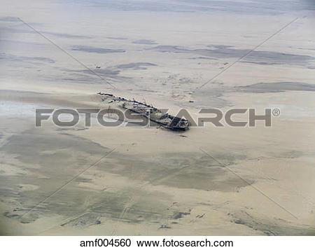 Stock Photography of Namibia, Namib Desert, ship wreck Eduard.