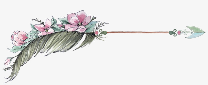Arrow Watercolor Watercolour Boho Hipster.