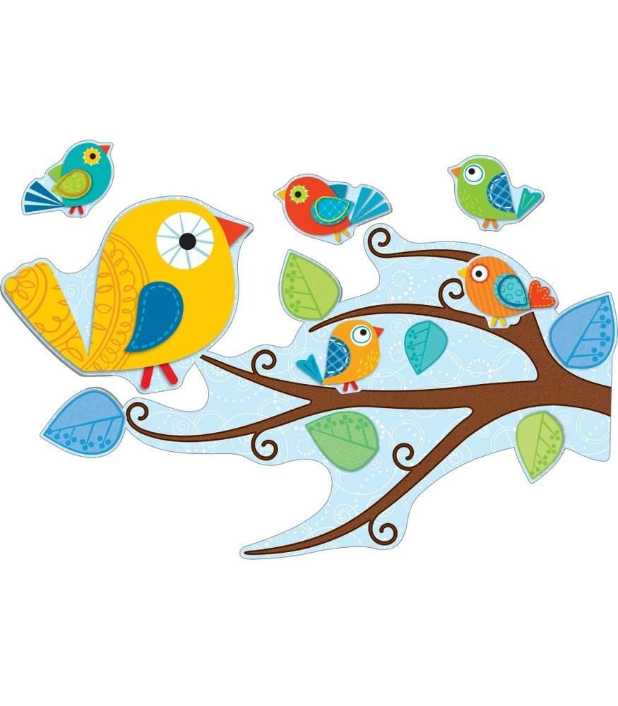 Free boho bird clipart.