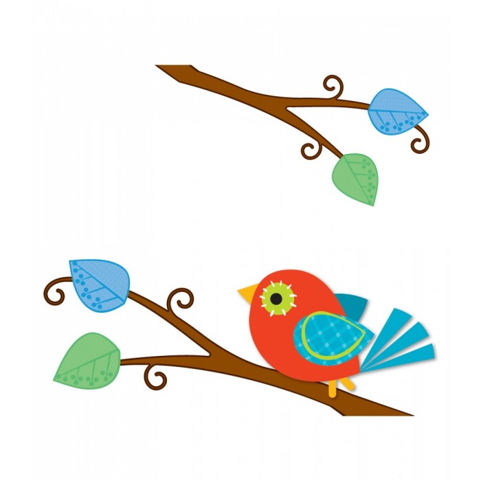 Boho Birds Name Tags.