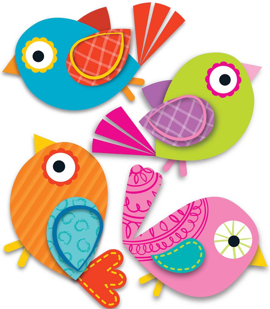 Boho Birds Clipart.