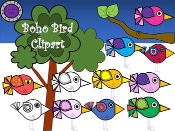 Boho Bird Clipart.