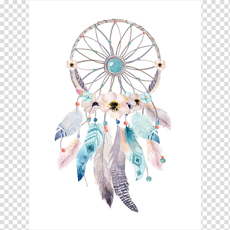 Multicolored dreamcatcher illustration, Dreamcatcher.