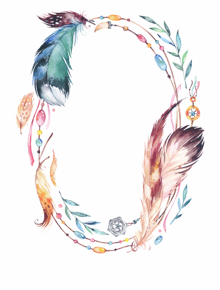 Feather Clipart Boho.