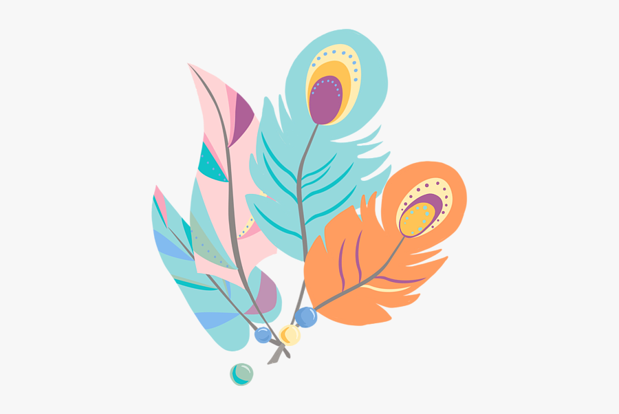 Boho Feather Png , Free Transparent Clipart.