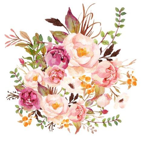 Boho Floral Clipart.