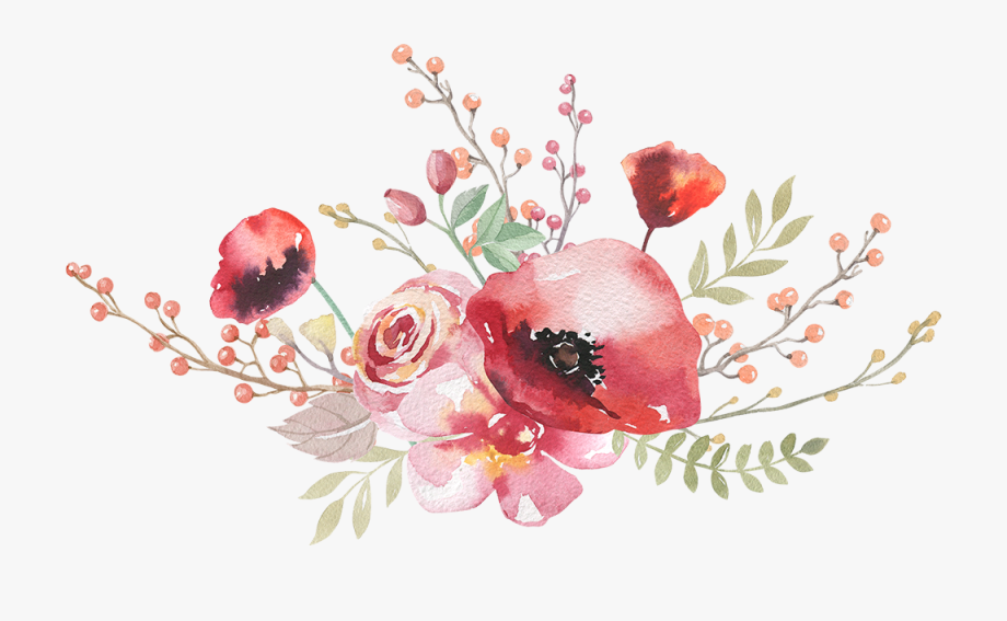 Boho Chic Photography Royalty Free Watercolor Flowers.