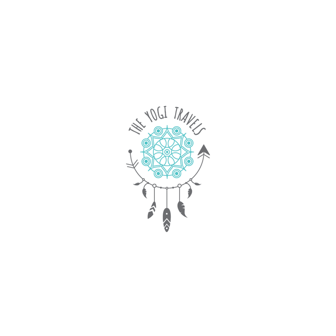 Hipster/boho logo for the yogi travels site.