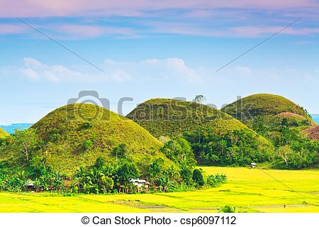 Stock Photo of Chocolate Hills.
