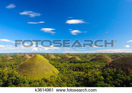 Stock Photography of Bohol Chocolate Hills k3614961.
