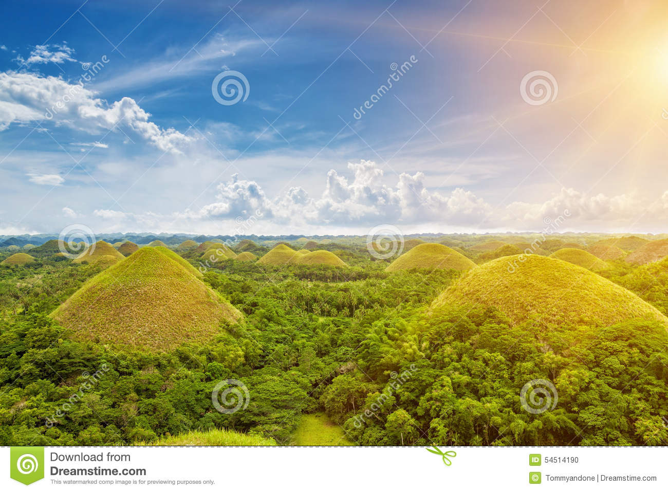 Bohol Chocolate Hills Royalty Free Stock Photo.