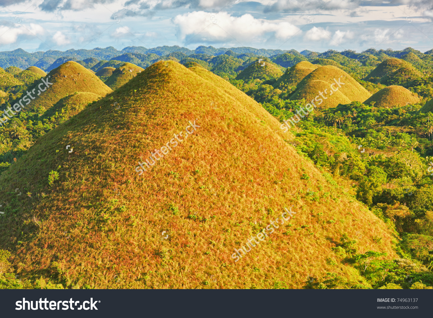 View Chocolate Hills Bohol Philippines Stock Photo 74963137.
