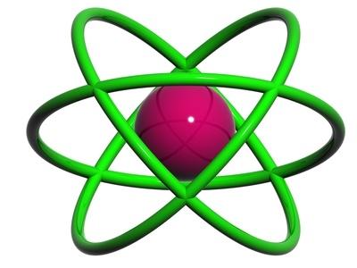 Aluminum Bohr Model.