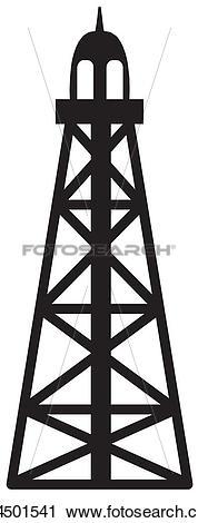 Clipart of Derrick rig k14501541.