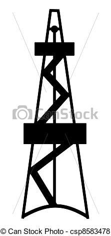 Stock Illustration von oel, gas, bohrturm.