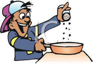 Man cooking clipart.