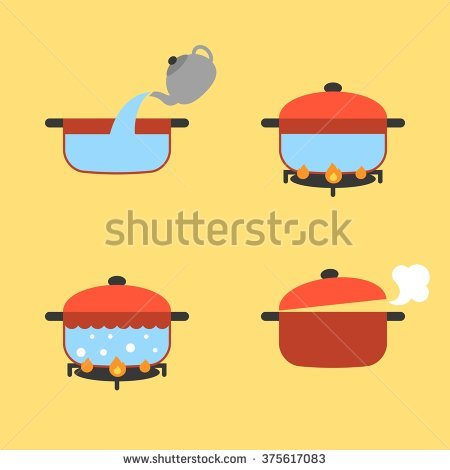 Boiling Pot Stock Images, Royalty.