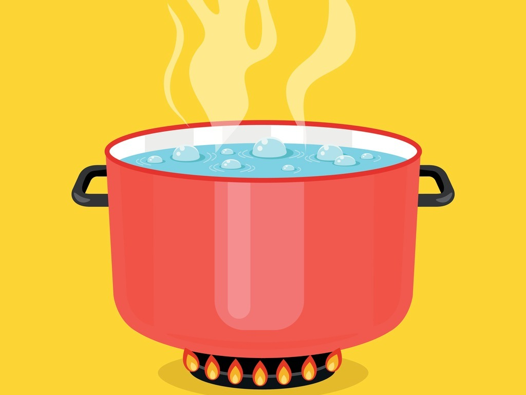 Boiling Water.