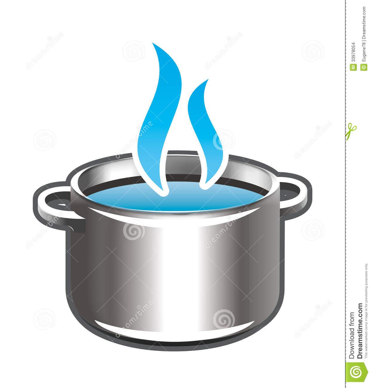 Boiling pot clip art.