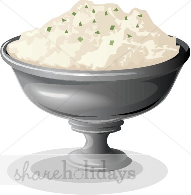 Mashed Potatoes Clipart.