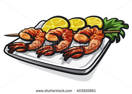 boiled shrimp clipart clipground