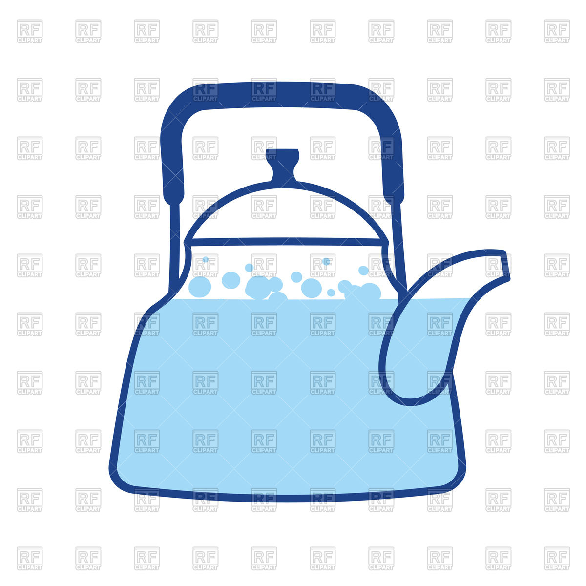 Kettle boiling water icon Stock Vector Image.