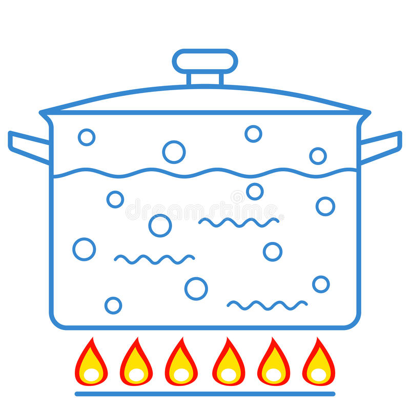 Boiling Water Stock Illustrations.