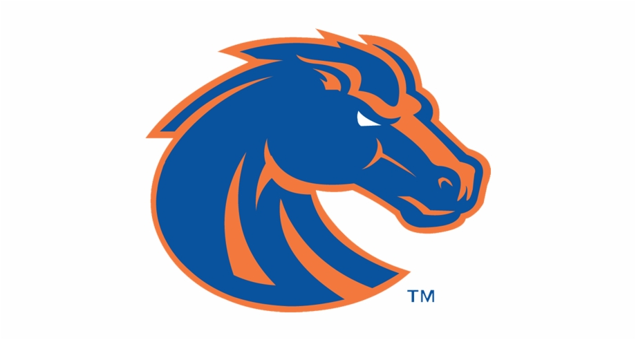 Denver Broncos Logo Coloring Pages Boise State Bronco.