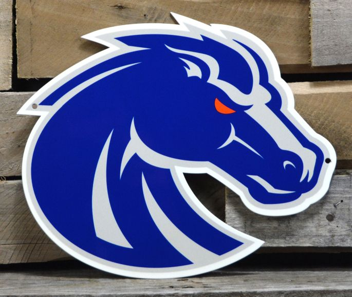 Authentic Street Signs Boise State Broncos Steel Logo Sign.