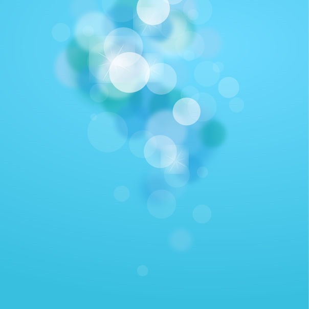 Abstract Blue Bokeh Background Vector Graphic Art.