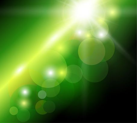 Abstract Green Bokeh Background, Clipart.
