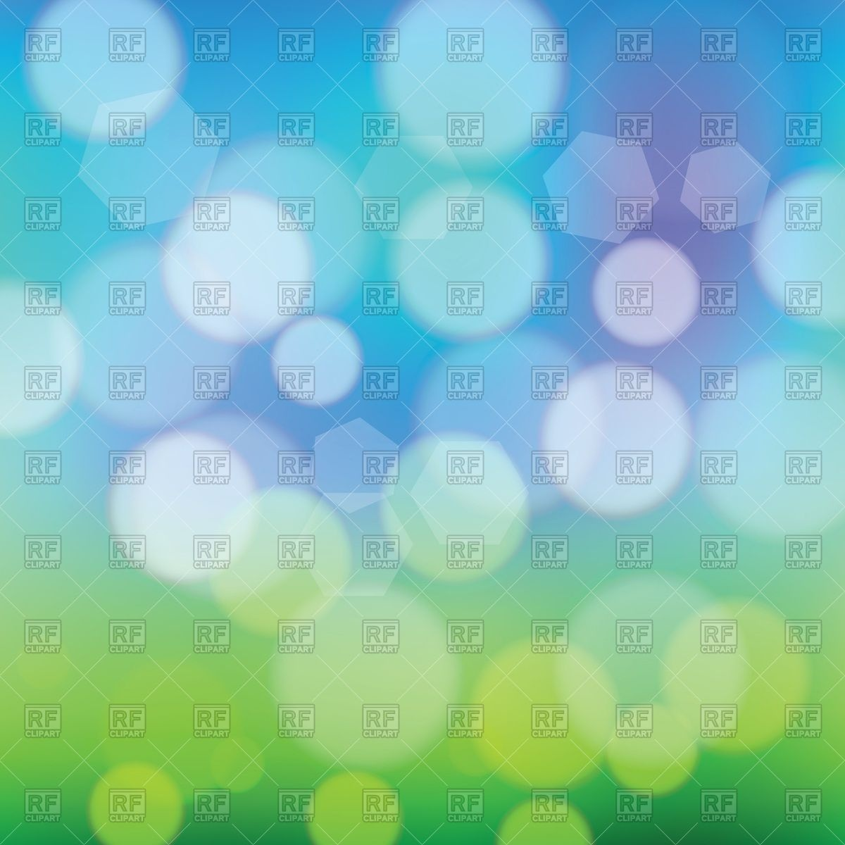 Abstract summer background with bokeh Vector Image #54624.