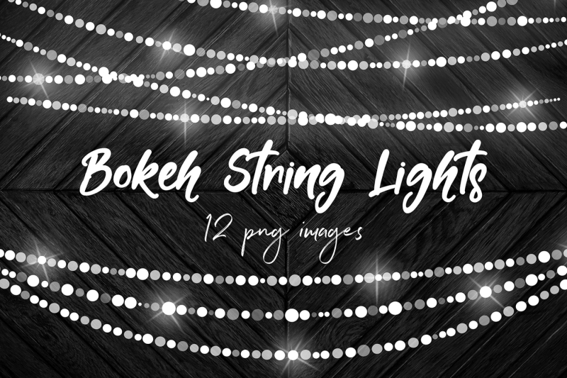 Free Bokeh String Lights Clipart Crafter File.