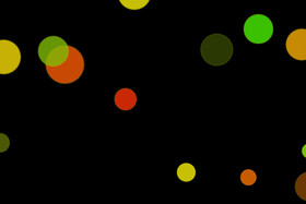Colorful Festival Light Bokeh Clipart on black background.