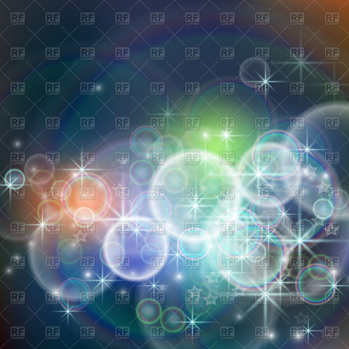 Abstract luminescent background with bokeh effect Vector Image.