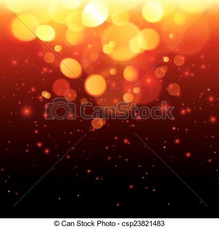 Vector of Bright bokeh effect fire abstract background.