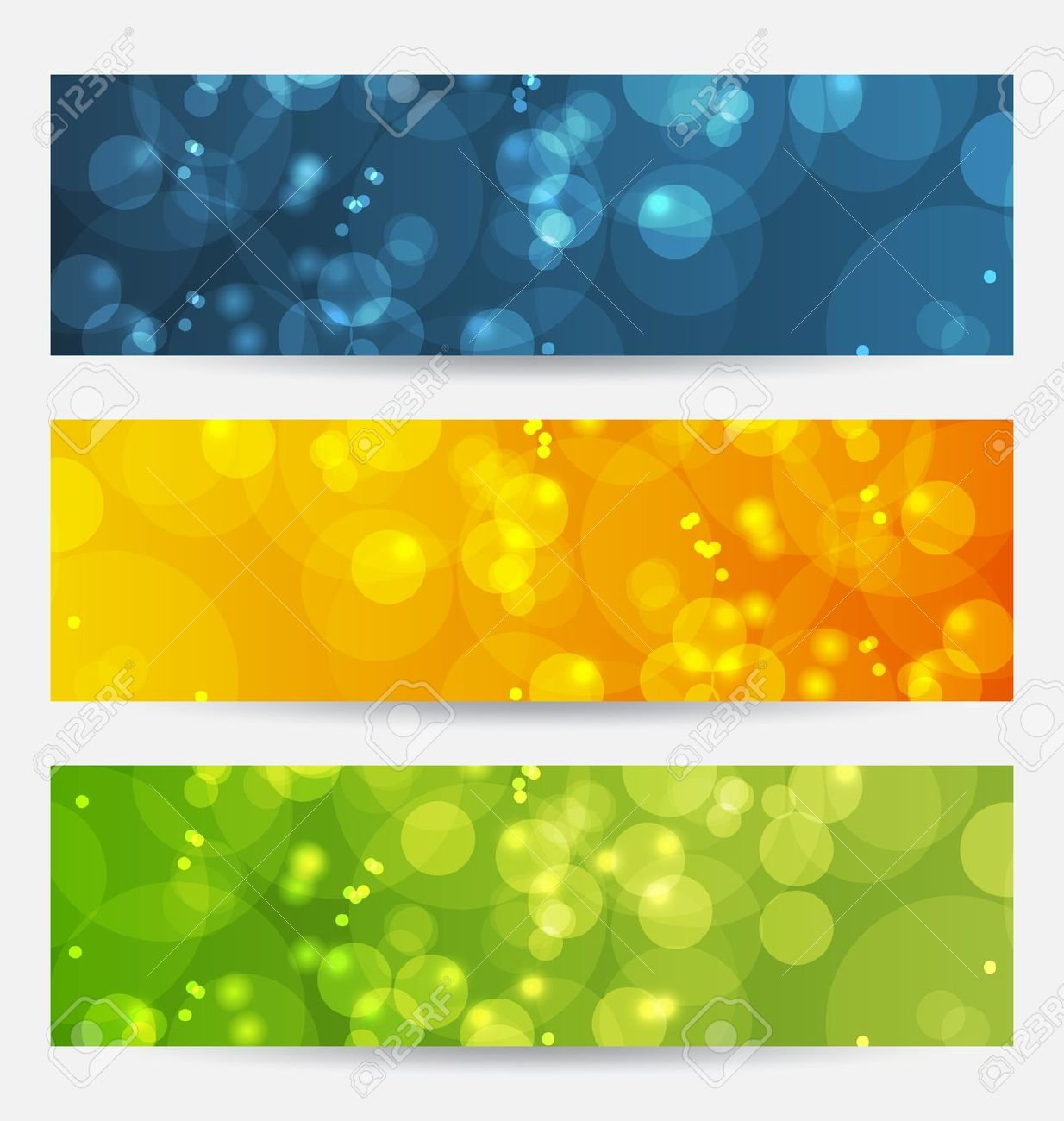 Illustration Set Of Abstract Backgrounds With Bokeh Effect Royalty.