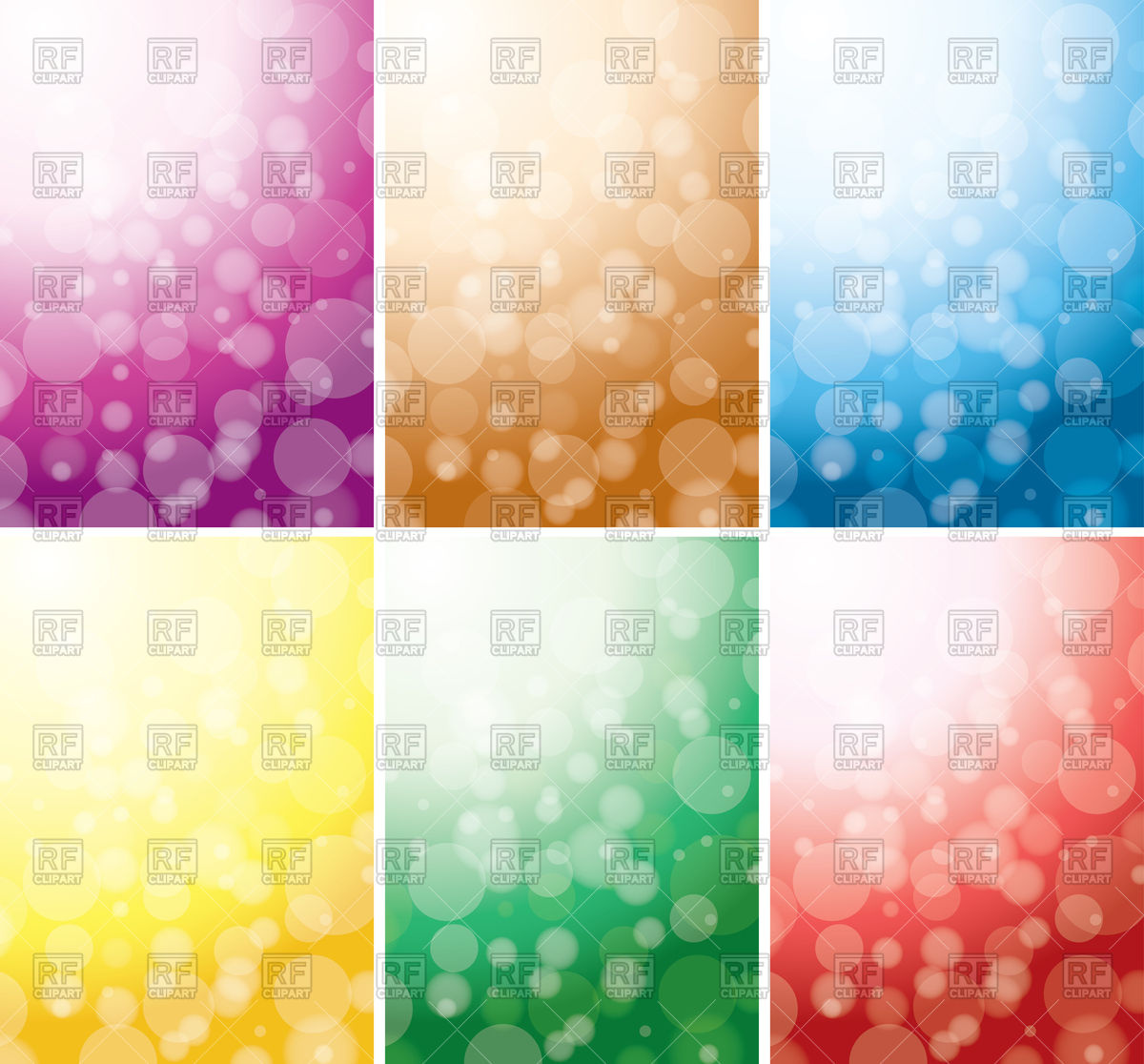 Abstract color backgrounds with bokeh effect Vector Image #76139.