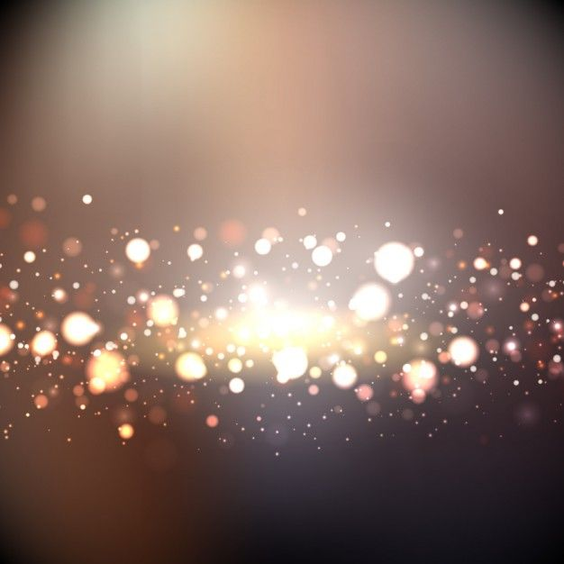 Bokeh background with golden lights Vector.