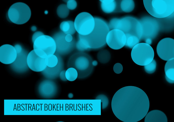 24 Abstract Bokeh Brushes.