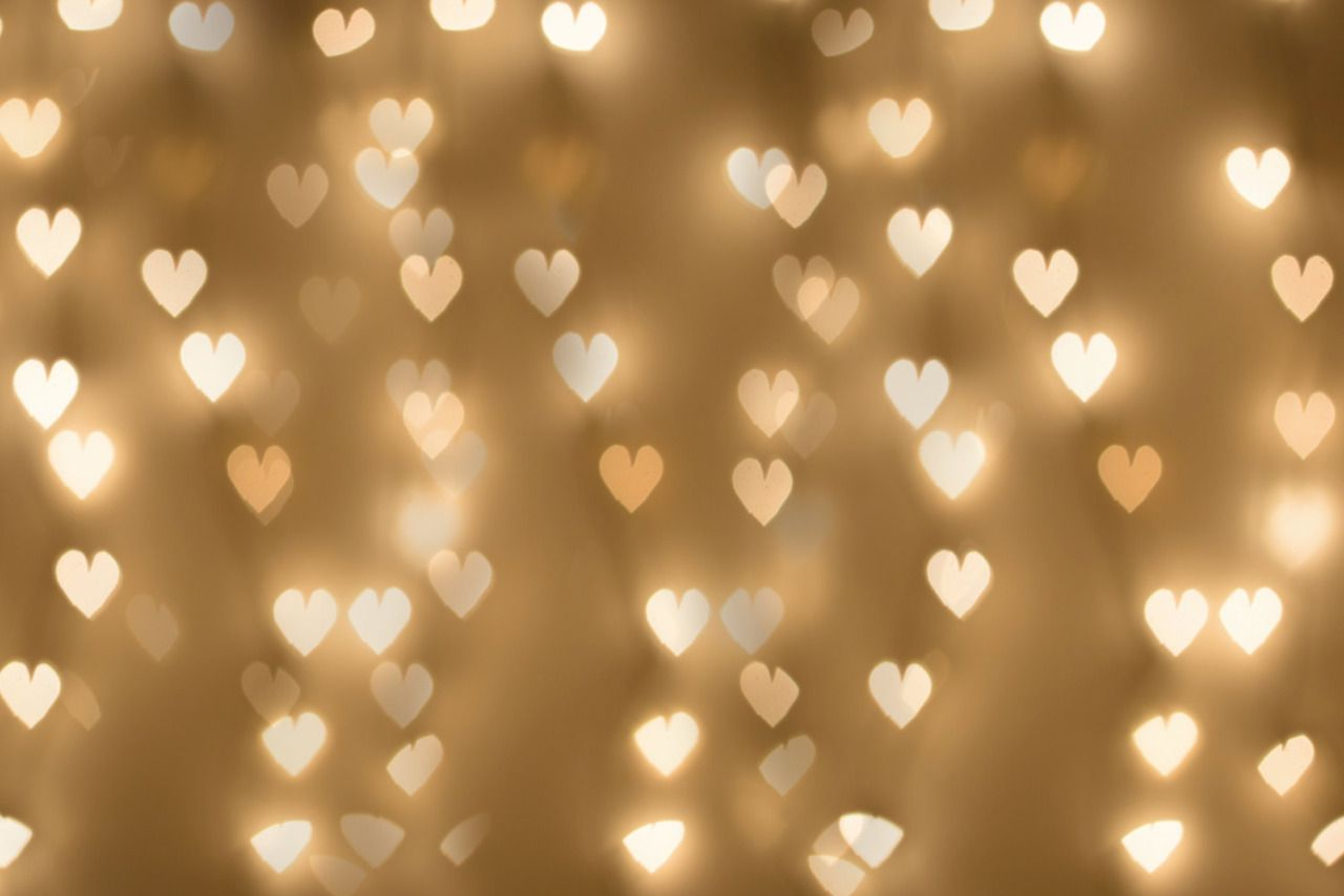 Holiday Lights Overlay, Bokeh Hearts Photo Overlay, Large.