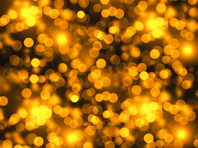 Golden Lights Bokeh Texture Photo Overlay Free (Bokeh.