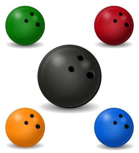 ilustração vetorial de bola de boliche.