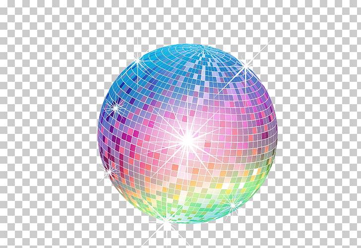 Disco ball , Disco crystal ball, multicolored mirror ball.